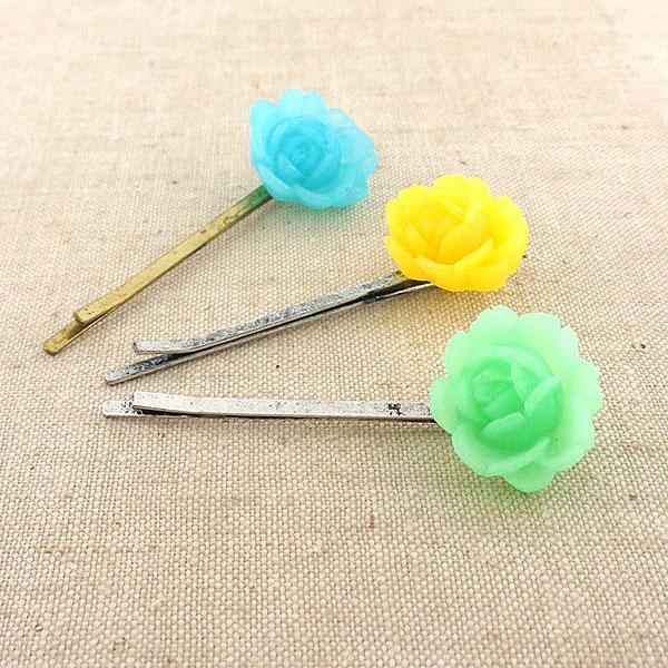 Shop LAVISHY's unique, beautiful & affordable handmade resin Peony flower hair bobby pin. A great gift for you or your girlfriend, wife, co-worker, friend & family. Wholesale available at www.lavishy.com with many unique & fun fashion accessories.
