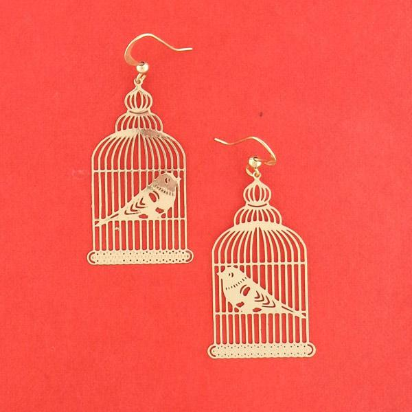 Shop PETA approved vegan brand LAVISHY's unique, beautiful & affordable light weight intricate filigree earrings feature cute birdcage. A great gift for you or your girlfriend, wife, co-worker, friend & family. Wholesale available at www.lavishy.com with many unique & fun fashion accessories.