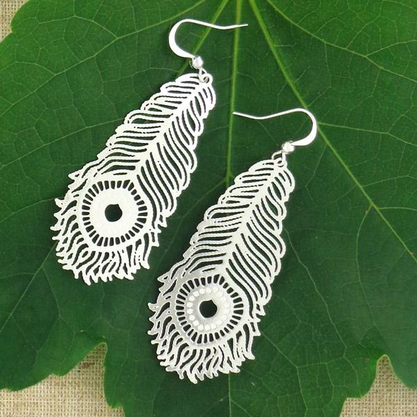 Shop PETA approved vegan brand LAVISHY's unique, beautiful & affordable light weight intricate filigree earrings inspired by lovely peacock feather. A great gift for you or your girlfriend, wife, co-worker, friend & family. Wholesale available at www.lavishy.com with many unique & fun fashion accessories.