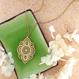 Online shopping for LAVISHY unique, beautiful & affordable light weight intricate filigree pendant necklace. Great for everyday wear, or as gift for family & friends. Wholesale at www.lavishy.com for gift shop, clothing & fashion accessories boutique, book store since 2001.
