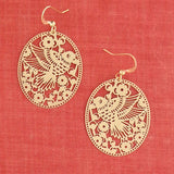 Shop PETA approved vegan brand LAVISHY's unique, beautiful & affordable light weight intricate filigree earrings feature bird & flower. A great gift for you or your girlfriend, wife, co-worker, friend & family. Wholesale available at www.lavishy.com with many unique & fun fashion accessories.