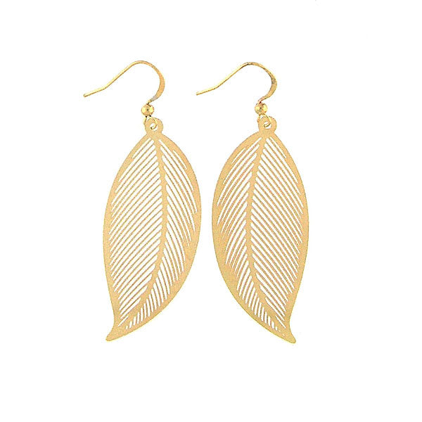 Shop PETA approved vegan brand LAVISHY's unique, beautiful & affordable light weight intricate filigree earrings feature lovely leaf. A great gift for you or your girlfriend, wife, co-worker, friend & family. Wholesale available at www.lavishy.com with many unique & fun fashion accessories.