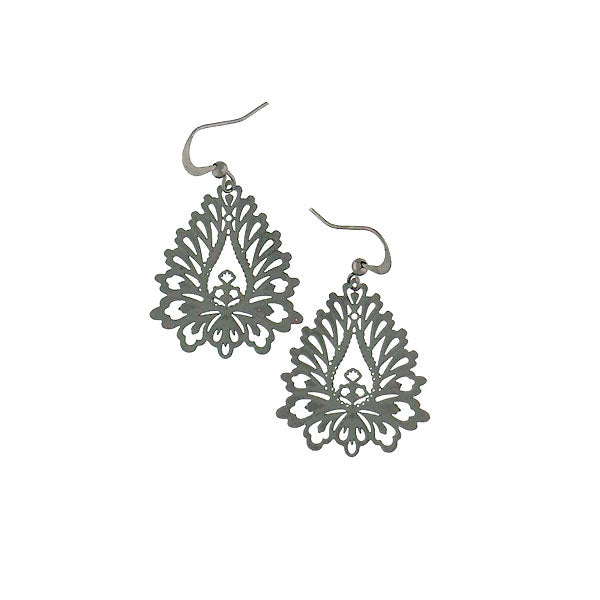 Shop PETA approved vegan brand LAVISHY's unique, beautiful & affordable light weight intricate filigree earrings inspired by lotus flower. A great gift for you or your girlfriend, wife, co-worker, friend & family. Wholesale available at www.lavishy.com with many unique & fun fashion accessories.