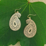 Shop PETA approved vegan brand LAVISHY's unique, beautiful & affordable light weight intricate filigree earrings feature paisley pattern. A great gift for you or your girlfriend, wife, co-worker, friend & family. Wholesale available at www.lavishy.com with many unique & fun fashion accessories.