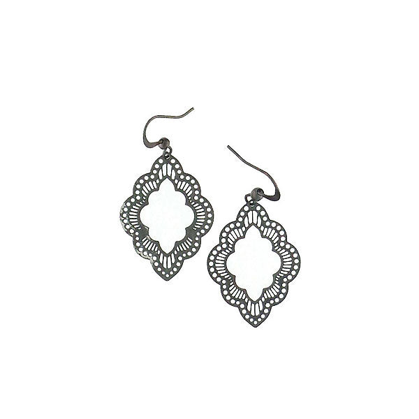 Shop PETA approved vegan brand LAVISHY's unique, beautiful & affordable light weight intricate filigree earrings artwork feature Moroccan pattern. A great gift for you or your girlfriend, wife, co-worker, friend & family. Wholesale available at www.lavishy.com with many unique & fun fashion accessories.
