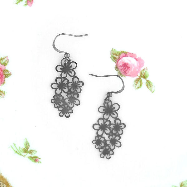 Shop PETA approved vegan brand LAVISHY's unique, beautiful & affordable light weight intricate filigree earrings feature lovely flower. A great gift for you or your girlfriend, wife, co-worker, friend & family. Wholesale available at www.lavishy.com with many unique & fun fashion accessories.