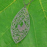 Shop PETA approved vegan brand LAVISHY's unique, beautiful & affordable light weight intricate filigree necklace feature love birds on the tree. A great gift for you or your girlfriend, wife, co-worker, friend & family. Wholesale available at www.lavishy.com with many unique & fun fashion accessories.