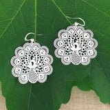Shop PETA approved vegan brand LAVISHY's unique, beautiful & affordable light weight intricate filigree earrings feature beautiful peacock. A great gift for you or your girlfriend, wife, co-worker, friend & family. Wholesale available at www.lavishy.com with many unique & fun fashion accessories.