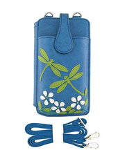 55-960: Dragonfly applique cell phone bag/wallet