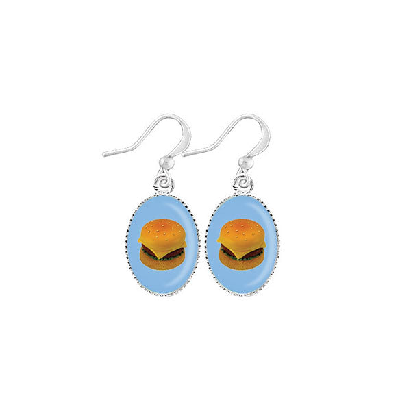 Shop LAVISHY's unique, handmade cute & dainty hamburger earrings. A quirky & fun gift for you or your girlfriend, wife, co-worker, friend & family. Wholesale available at www.lavishy.com with many unique & fun fashion accessories.