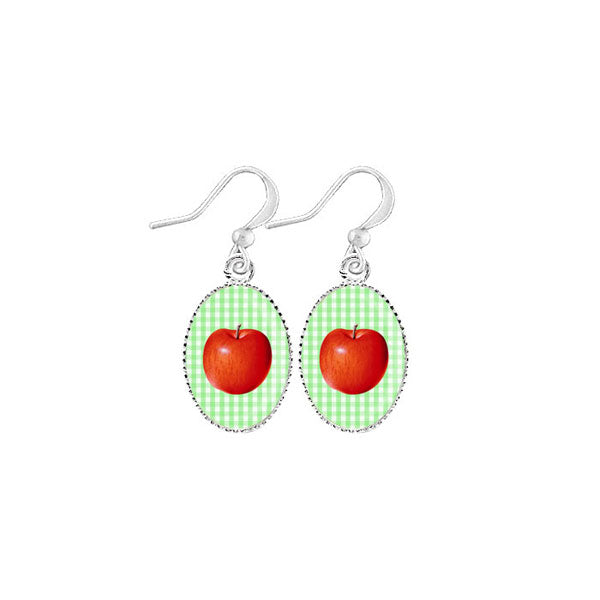 Shop LAVISHY's unique, handmade cute & dainty apple earrings. A quirky & fun gift for you or your girlfriend, wife, co-worker, friend & family. Wholesale available at www.lavishy.com with many unique & fun fashion accessories.