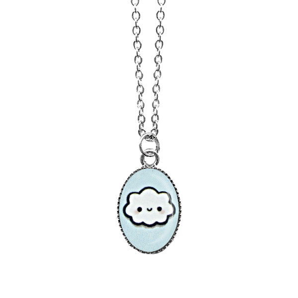 Online shopping for LAVISHY cute & dainty rhodium plated baby cloud necklace. Fun to wear, make a playful gift for family & friends. Come with FREE gift box. Wholesale at www.lavishy.com for gift shop, clothing & fashion accessories boutique, book store in Canada, USA & worldwide since 2001.