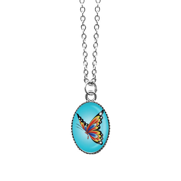 Shop LAVISHY's unique, handmade cute & dainty tattoo butterfly necklace. A quirky & fun gift for you or your girlfriend, wife, co-worker, friend & family. Wholesale available at www.lavishy.com with many unique & fun fashion accessories.