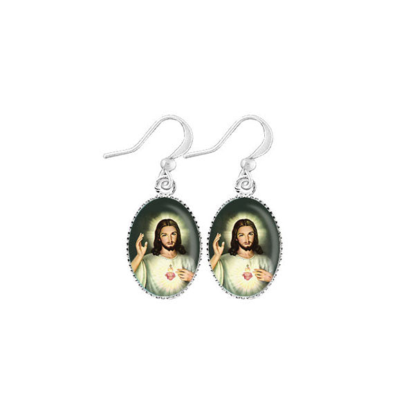 Shop LAVISHY's unique, handmade cute & dainty Sacred Heart of Jesus earrings. A quirky & fun gift for you or your girlfriend, wife, co-worker, friend & family. Wholesale available at www.lavishy.com with many unique & fun fashion accessories.