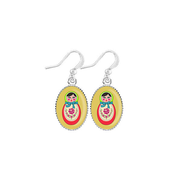 Shop LAVISHY's unique, handmade cute & dainty Matryoshka doll earrings. A quirky & fun gift for you or your girlfriend, wife, co-worker, friend & family. Wholesale available at www.lavishy.com with many unique & fun fashion accessories.