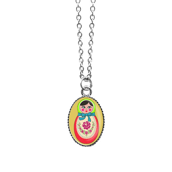 Shop LAVISHY's unique, handmade cute & dainty Matryoshka doll necklace. A quirky & fun gift for you or your girlfriend, wife, co-worker, friend & family. Wholesale available at www.lavishy.com with many unique & fun fashion accessories.