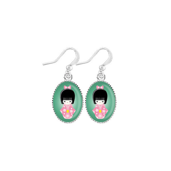 Shop LAVISHY's unique, handmade cute & dainty Japanese Doll earrings. A quirky & fun gift for you or your girlfriend, wife, co-worker, friend & family. Wholesale available at www.lavishy.com with many unique & fun fashion accessories.
