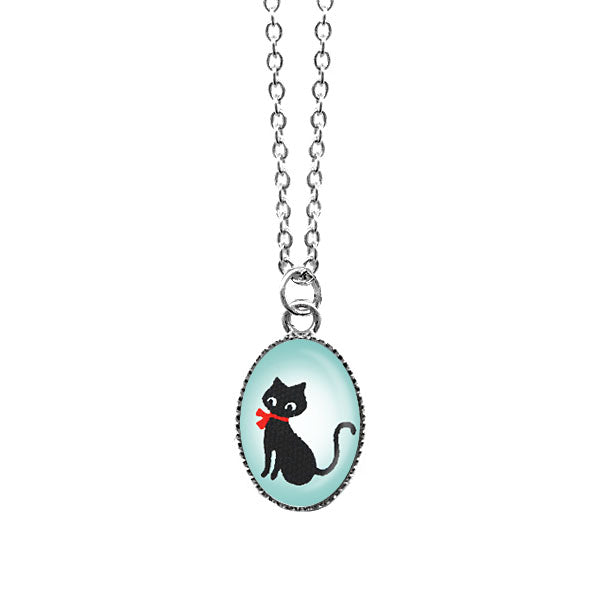 Shop LAVISHY's unique, handmade cute & dainty black cat necklace. A quirky & fun gift for you or your girlfriend, wife, co-worker, friend & family. Wholesale available at www.lavishy.com with many unique & fun fashion accessories.