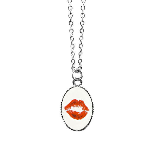 Shop LAVISHY's unique, handmade cute & dainty lip mark print necklace. A quirky & fun gift for you or your girlfriend, wife, co-worker, friend & family. Wholesale available at www.lavishy.com with many unique & fun fashion accessories.