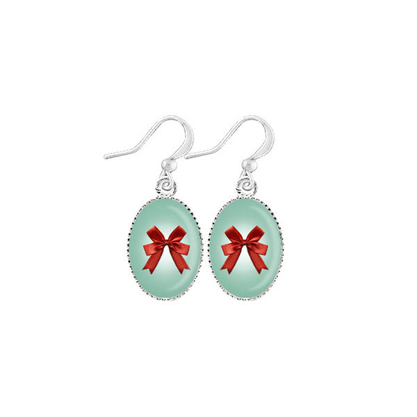 Shop LAVISHY's unique, handmade cute & dainty red ribbon bow earrings. A quirky & fun gift for you or your girlfriend, wife, co-worker, friend & family. Wholesale available at www.lavishy.com with many unique & fun fashion accessories.