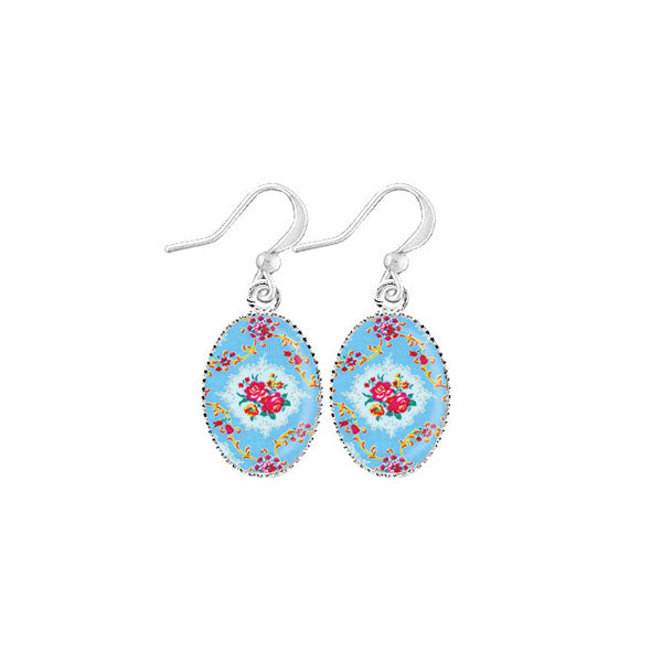 Shop LAVISHY's unique, handmade cute & dainty English rose print earrings. A quirky & fun gift for you or your girlfriend, wife, co-worker, friend & family. Wholesale available at www.lavishy.com with many unique & fun fashion accessories.