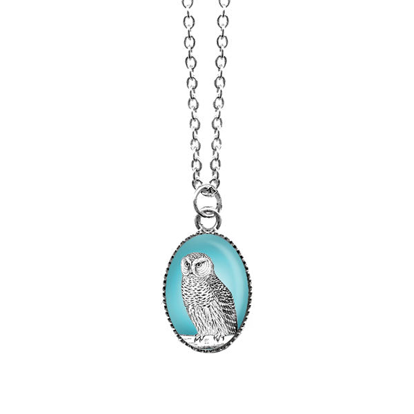 Online shopping for LAVISHY cute & dainty rhodium plated snowy owl necklace. Fun to wear, make a playful gift for family & friends. Come with FREE gift box. Wholesale at www.lavishy.com for gift shop, clothing & fashion accessories boutique, book store in Canada, USA & worldwide since 2001.