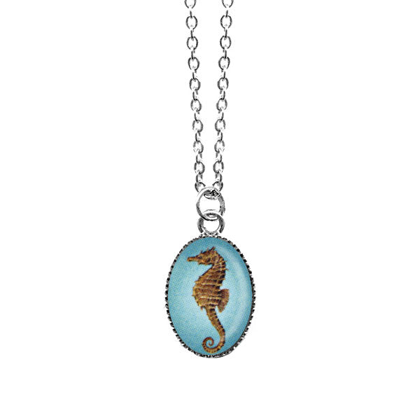 31-056N: Dainty necklace-seahorse