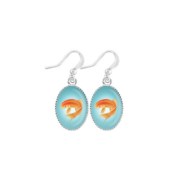 Shop LAVISHY's unique, handmade cute & dainty koi fish earrings. A quirky & fun gift for you or your girlfriend, wife, co-worker, friend & family. Wholesale available at www.lavishy.com with many unique & fun fashion accessories.