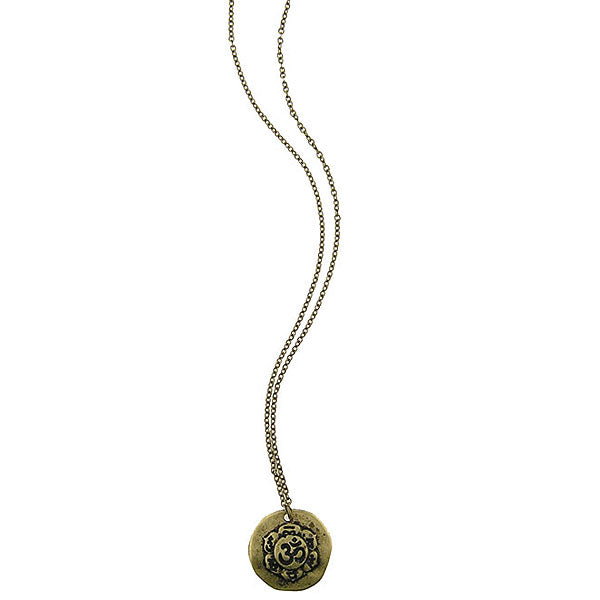 Shop LAVISHY handmade reversible OM & karma pendant necklace. Wholesale available at www.lavishy.com