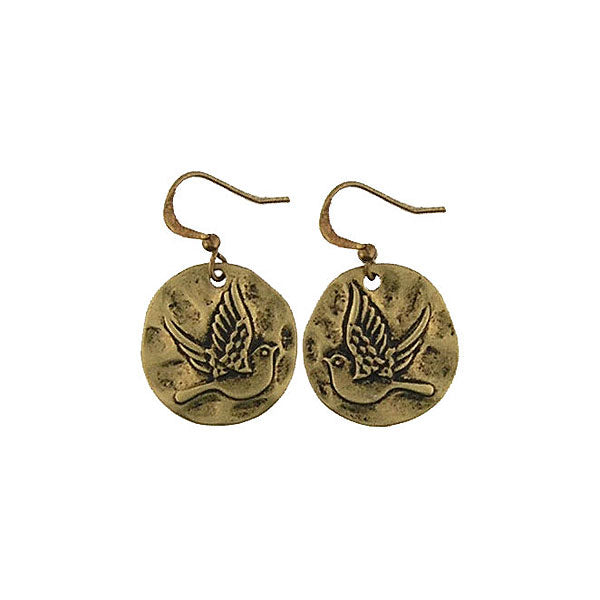 Shop LAVISHY handmade vintage style bird & peace earrings