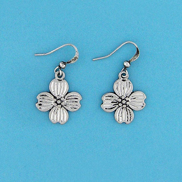 Shop LAVISHY handmade vintage style dogwood flower & faith earrings