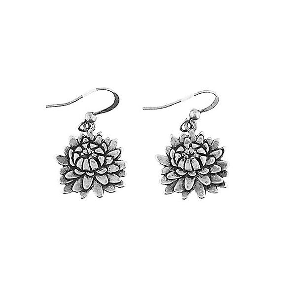 Shop LAVISHY handmade vintage style chrysanthemum & strength earrings