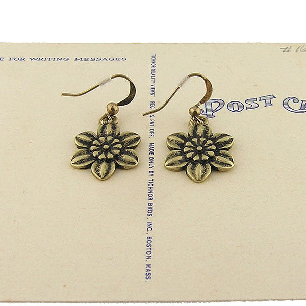 Shop LAVISHY vintage style narcissus flower & believe earrings. Wholesale available at www.lavishy.com along with other unique & meaningful fashion jewelry that will make thoughtful gifts.