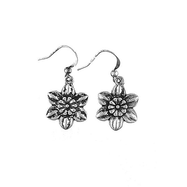 Shop LAVISHY handmade vintage style narcissus flower & believe earrings