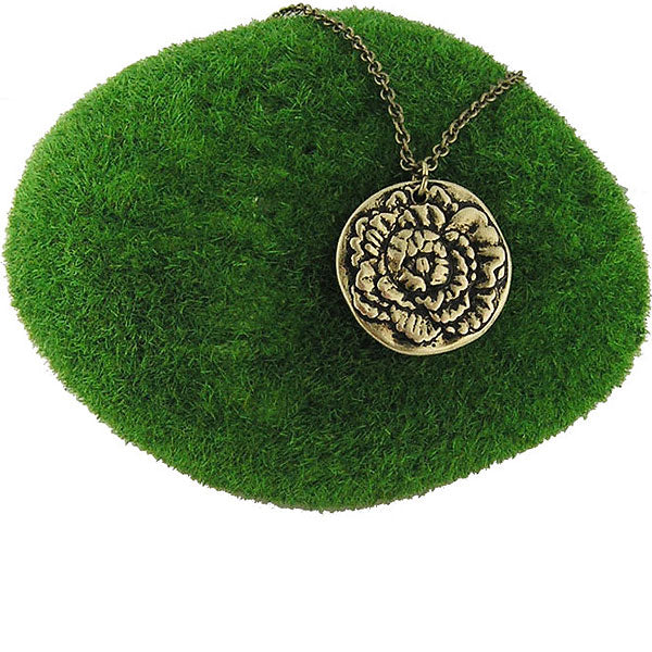 Shop LAVISHY handmade reversible carnation flower & love pendant necklace. Wholesale available at www.lavishy.com