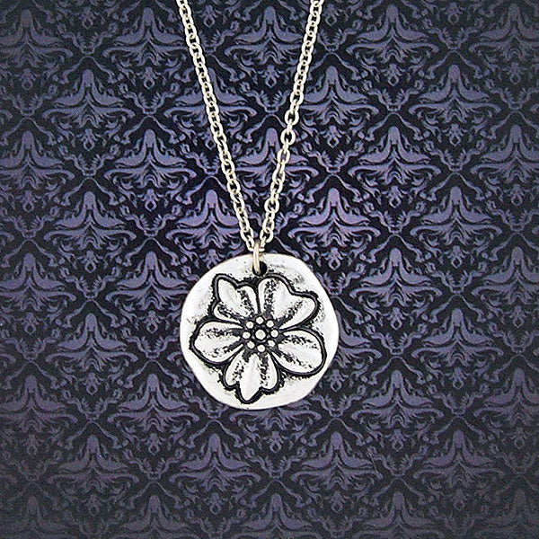 Shop LAVISHY handmade reversible lily flower & grace pendant necklace