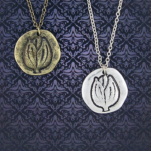 Shop LAVISHY handmade reversible tulips flower & hope pendant necklace. Wholesale available at www.lavishy.com