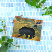 Online shopping for LAVISHY Canada collection bear print vegan key ring coin purse. This product is available for wholesale to Canadian gift shops, boutiques & souvenir shops at www.lavishy.com designed by vegan brand LAVISHY.