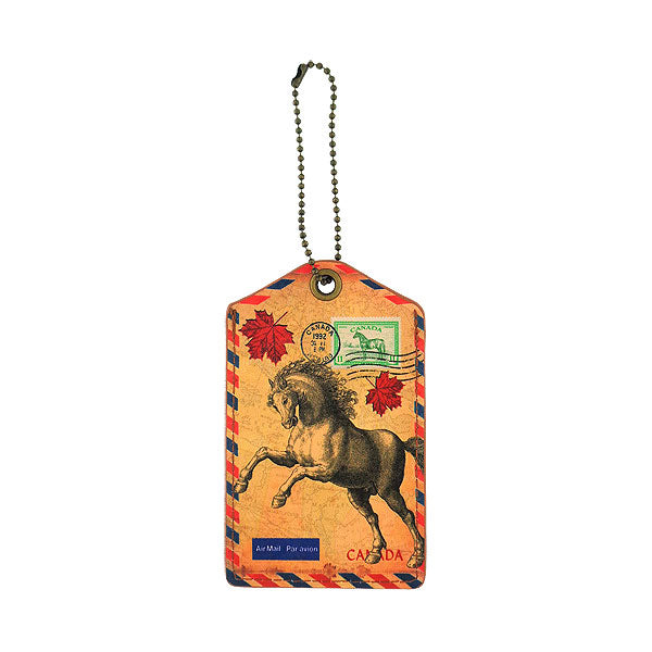 416-226: Canadian horse luggage tag