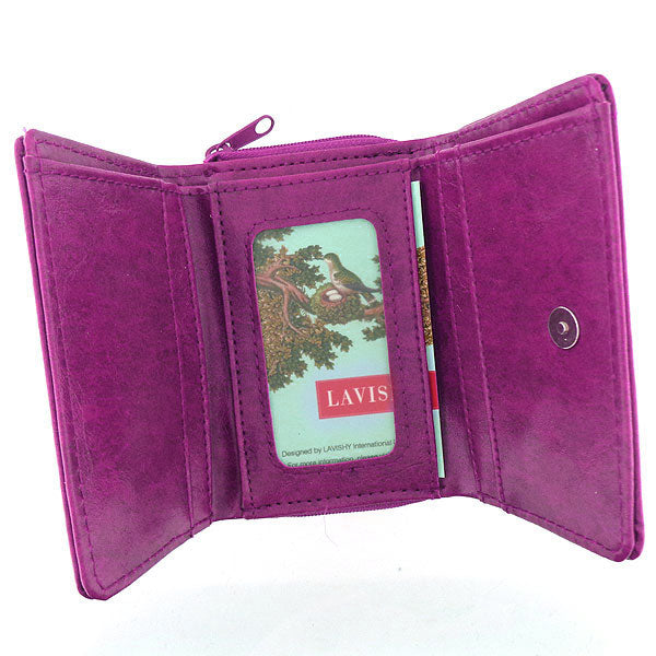 Designed by vegan brand LAVISHY, this Eco-friendly, ethically made, cruelty free small tri-fold wallet for women features delightful embroidery motif of hummingbird. Wholesale available at www.lavishy.com along with other unique & fun vegan fashion accessories for retailers like gift shop & boutique.