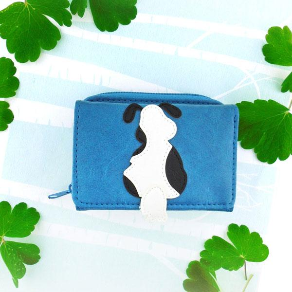 Online shopping for vegan brand LAVISHY's fun & Eco-friendly dog applique vegan trifold small wallet. Great for everyday use, cool gift for family & friends. Wholesale at www.lavishy.com for gift shops, clothing & fashion accessories boutiques, book stores in Canada, USA & worldwide since 2001.