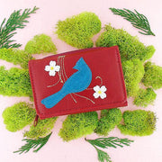 Online shopping for vegan brand LAVISHY's fun & Eco-friendly bird applique vegan trifold small wallet. Great for everyday use, cool gift for family & friends. Wholesale at www.lavishy.com for gift shops, clothing & fashion accessories boutiques, book stores in Canada, USA & worldwide since 2001.
