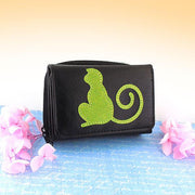 Online shopping for vegan brand LAVISHY's fun & Eco-friendly monkey applique vegan trifold small wallet. Great for everyday use, cool gift for family & friends. Wholesale at www.lavishy.com for gift shops, clothing & fashion accessories boutiques, book stores in Canada, USA & worldwide since 2001.