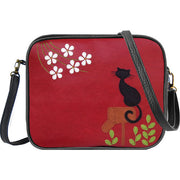 Shop vegan brand LAVISHY's cat on mailbox applique vegan/faux leather cross body bag / toiletry bag. Wholesale available at https://www.lavishy.com/lookbook/lavishy-adora-collection-look-book.htm