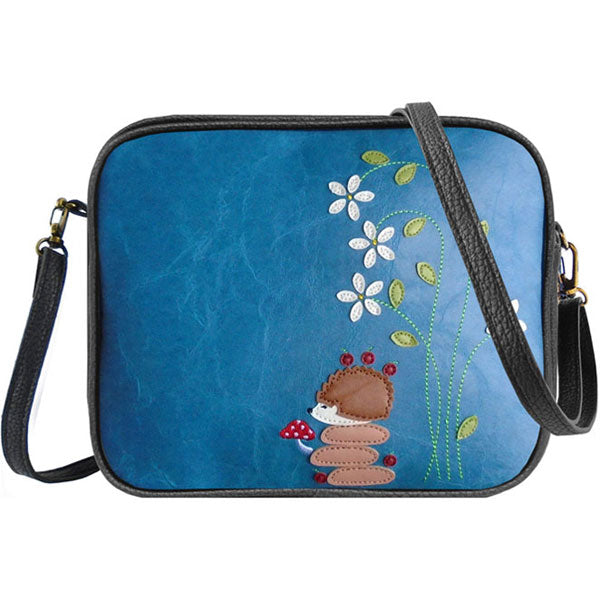 Shop vegan brand LAVISHY's hedgehog, flower & mushroom applique vegan/faux leather cross body bag / toiletry bag. Wholesale available at http://www.lavishy.com/lookbook/lavishy-adora-collection-look-book.htm