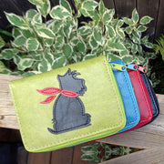 55-1201: Dog applique vegan cardholder