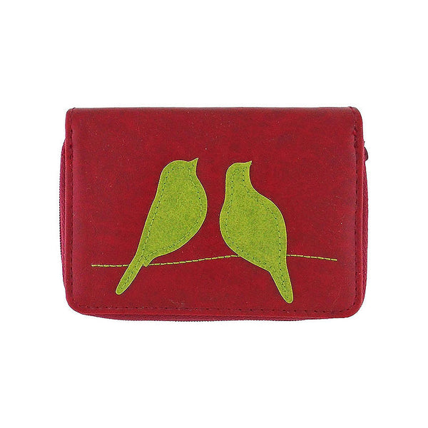 Shop PETA approved vegan brand LAVISHY's love birds applique vegan/faux leather cardholder. Wholesale available at http://www.lavishy.com/lookbook/lavishy-adora-collection-look-book.htm