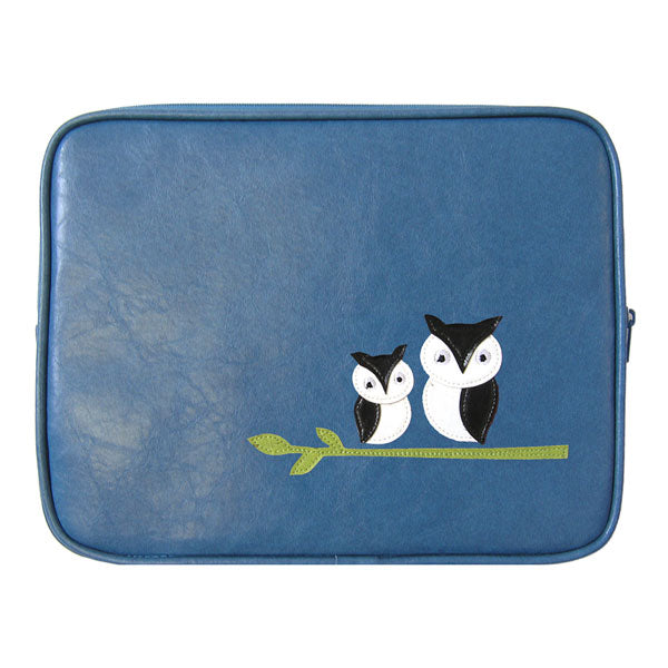 Shop PETA approved vegan brand LAVISHY's adorable vegan/faux leather tablet/ipad sleeve with cute owl mama and baby on the branch applique. Wholesale available at http://www.lavishy.com/lookbook/lavishy-adora-collection-look-book.htm