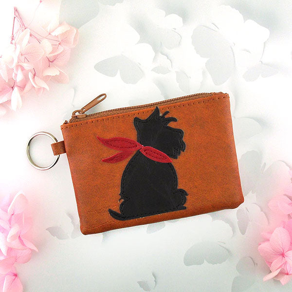 55-301: Dog applique vegan coin purse