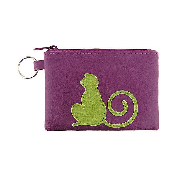 Online shopping for vegan brand LAVISHY's playful applique vegan key ring coin purse with adorable monkey applique. Great for everyday use, fun gift for family & friends. Wholesale at www.lavishy.com for gift shop, clothing & fashion accessories boutique, book store in Canada, USA & worldwide since 2001.